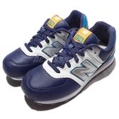 New Balance 復古慢跑鞋 NB 574 藍 紫 白 皮革 女鞋 大童鞋【ACS】 KL574BWYW