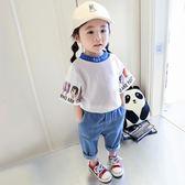 女童短袖T恤2018新款夏裝寬松童裝上衣純棉 JA2657『時尚玩家』