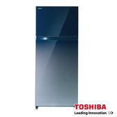 【TOSHIBA東芝】505公升 玻璃鏡面 雙門變頻冰箱 GR-HG55TDZ 漸層深藍