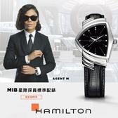 MIB星際戰警 M探員配戴款 HAMILTON Ventura  跨國行動 盾形石英手錶 H24411732
