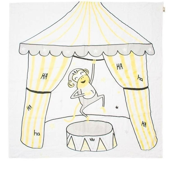 Kippins 澳洲 有機棉包巾 / 動物造型包巾 – 小猴子與香蕉 SPLITS KIPPINTALE