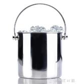 雙線提手冰桶創意雙層帶冰隔實用酒店酒吧香檳桶冰粒桶【快速出貨】
