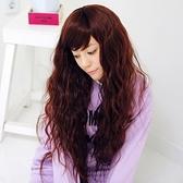 假髮(長髮)-時尚氣質捲髮斜瀏海女配件4色73fi34[時尚巴黎]
