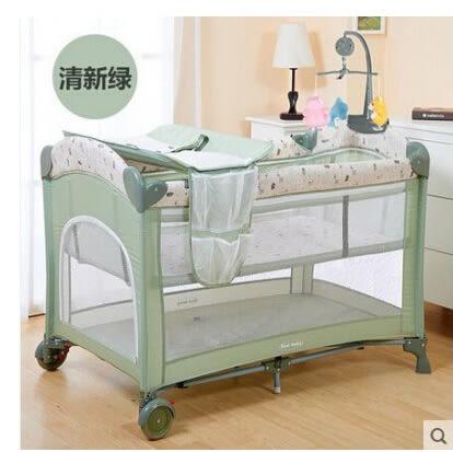 多功能可折疊嬰兒床【藍星居家】