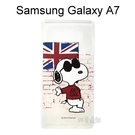 SNOOPY 史努比透明軟殼 [英國] Samsung Galaxy A7【台灣正版授權】