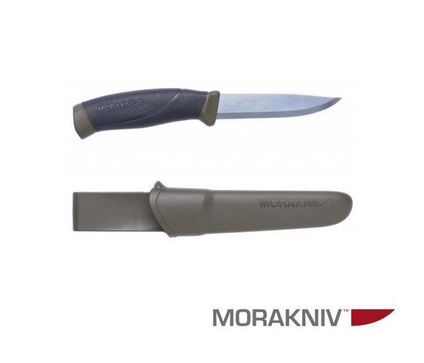 丹大戶外用品【MORAKNIV】瑞典 COMPANION 高碳鋼直刀 軍綠 11863