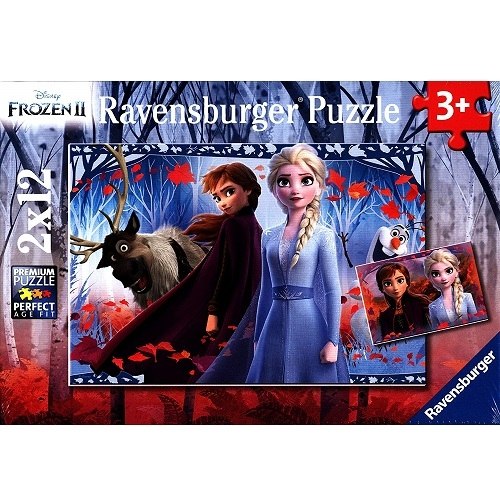 德國 維寶拼圖-冰雪奇緣2 (2X12P) RV05009 Ravensburger