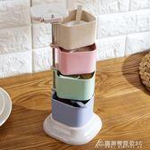 調味罐小麥秸稈調味罐立式旋轉調料盒廚房調味盒調料罐套裝調味料佐料盒 酷斯特數位3C