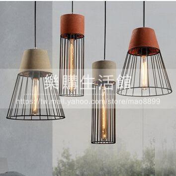 工業復古燈餐廳個性鐵藝單頭吊燈LG-18843