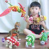 兒童3D模型立體拼圖益智玩具4-6周歲男女孩EVA動物積木恐龍 【格林世家】