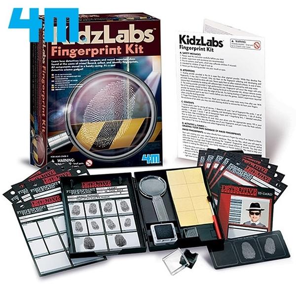 耀您館|4M偵探科學Detective Science-Fingerprint採集指紋密碼戰00-03248教具組Kit