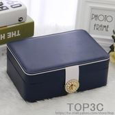 雙層簡約首飾盒公主歐式韓國首飾收納盒飾品盒耳環耳釘戒指收納盒「Top3c」