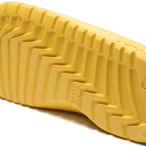 FILA (偏小建議大半號) 黃 白綠 英文LOGO 基本款 防水 拖鞋 男女 (布魯克林) 4S355V991
