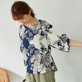 【慢。生活】雙層肌理質感寬棉麻衫 8032 FREE白色