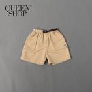 Queen Shop【04101425】童裝 親子系列 立體口袋織標短褲 三色售*現+預*
