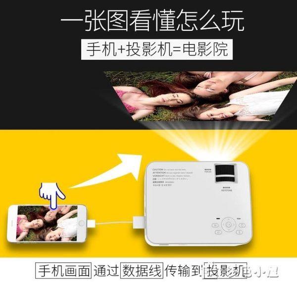 T1手機投影儀家用wifi無線高清智慧微型投影機便攜式家庭影院多色小屋igo