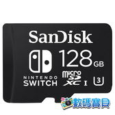 【公司貨,免運】 SanDisk microSDXC 128GB for Nintendo Switch 專用記憶卡(SDSQXAO-128G,U3,終身保固) 128g