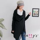 betty's貝蒂思 流蘇垂墜針織罩衫(黑色)