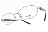 LOEWE 光學眼鏡 VLW424K A88 (紫) 簍空造型款 # 金橘眼鏡