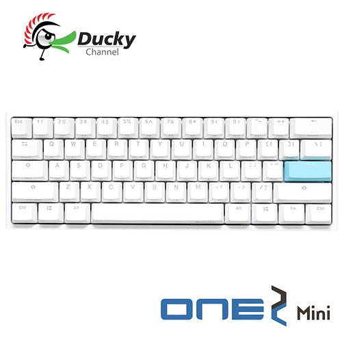 Ducky One 2 Mini 白色版 60% PBT二色成形不破孔 Cherry MX RGB 機械軸 機械式鍵盤 靜音紅軸 銀軸