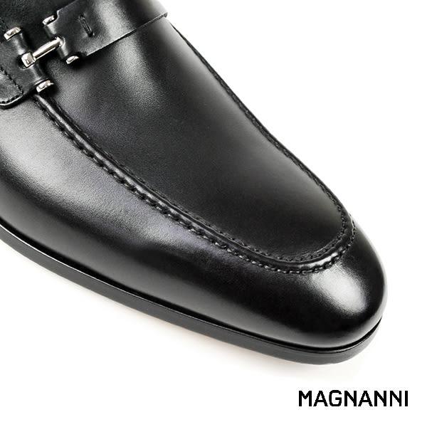 【MAGNANNI】時尚樂福紳士皮鞋 黑色(13436-BL)