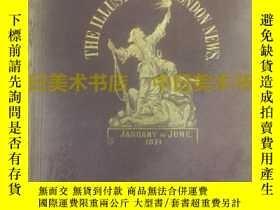 二手書博民逛書店《倫敦新聞畫報》THE罕見ILLUSTRATED LONDON NEWS,1871年上半年精裝合訂本,volume