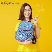 Kipling Emoji系列香蕉吊飾 條紋圖案後背包-中