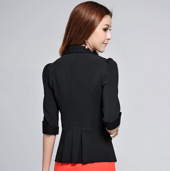 OL中袖西裝外套女~*艾美天后*~小西裝外套職業女裝商務面試裝垂感西服修身顯瘦正裝工作服