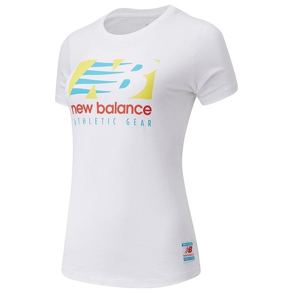 New Balance Essentials Field Day 女裝 短袖 休閒 基本款 棉質 LOGO 白【運動世界】AWT11507WT