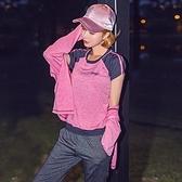 瑜珈服套裝(三件套)-時尚撞色拼接連帽女運動服3色73ry18【時尚巴黎】