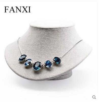 人像脖子項鏈展示架珠寶展示道具【藍星居家】
