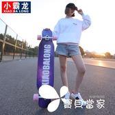 初學者滑板長板成人男生女生公路刷街舞板青少年少女四輪滑板車