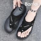开车穿的凉鞋 皮涼鞋男夏季新款潮流開車拖鞋男士防水防滑防臭涼拖兩用沙灘