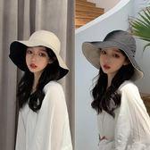 帽子女雙面漁夫帽日系百搭大檐遮陽帽網紅太陽帽 錢夫人小鋪