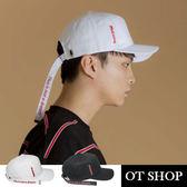 OT SHOP帽子‧韓版素色簡約長尾‧老帽棒球帽鴨舌帽‧時尚街頭嘻哈穿搭配件‧現貨2色‧C5288