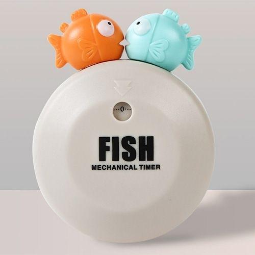 泡泡魚機械發條計時器 提醒器 定時器 倒計時器 背部磁鐵