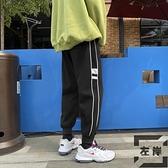 束腳褲休閒褲男韓版加絨加厚九分褲百搭寬鬆【左岸男裝】