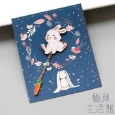 萌慘了可愛兔子胸針 徽章 卡通 禮物兒童【極簡生活】