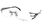 Masaki Matsushima 光學眼鏡 MMF1226 C04 (黑-銀) 時尚無框系列 β鈦眼鏡 #金橘眼鏡