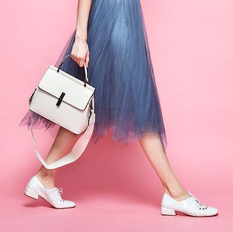 【CUMAR女包】輕奢寬帶兩用斜背包-米色