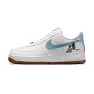 Nike Air Force 1 07 SE. 女 白藍 經典 花卉 刺繡 運動 休閒鞋 CZ0269-100