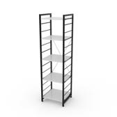(組)特力屋萊特五層架黑框/白板-40x40x158cm