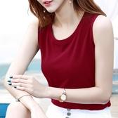 無袖背心 紅色吊帶背心女夏季外穿打底內穿搭韓版無袖上衣大碼t恤短款小衫【快速出貨】