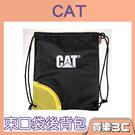 CAT 束口袋後背包,側邊小口袋方便收納小物