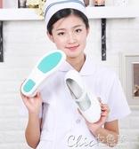 秋冬護士鞋氣墊白色坡跟透氣舒適軟底韓版防滑醫院女夏季最低秒殺價 七色堇