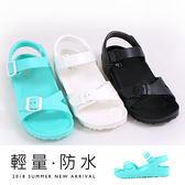 女款 一體成型EVA極輕量釦飾柔軟彈性止滑 防水涼鞋 平底涼鞋 MIT製造  59鞋廊