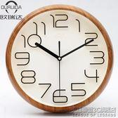 立體數字現代創意客廳掛鐘田園簡約靜音石英鐘時尚臥室鐘錶