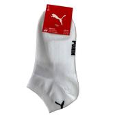 Puma 白色 襪子 短襪 男女款 腳踝襪 運動短襪 棉質 白色襪子 BB111203