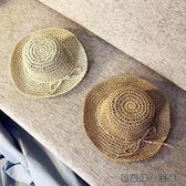 兒童帽子女潮夏季1-2-3-6歲防曬遮陽草帽 易樂購生活館