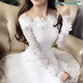 立體花朵一字領顯瘦蕾絲洋裝洛麗的雜貨鋪